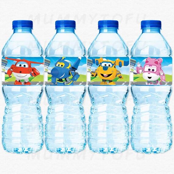 Super Wings Birthday Party Water Bottle Labels Jett Jerome Etsy