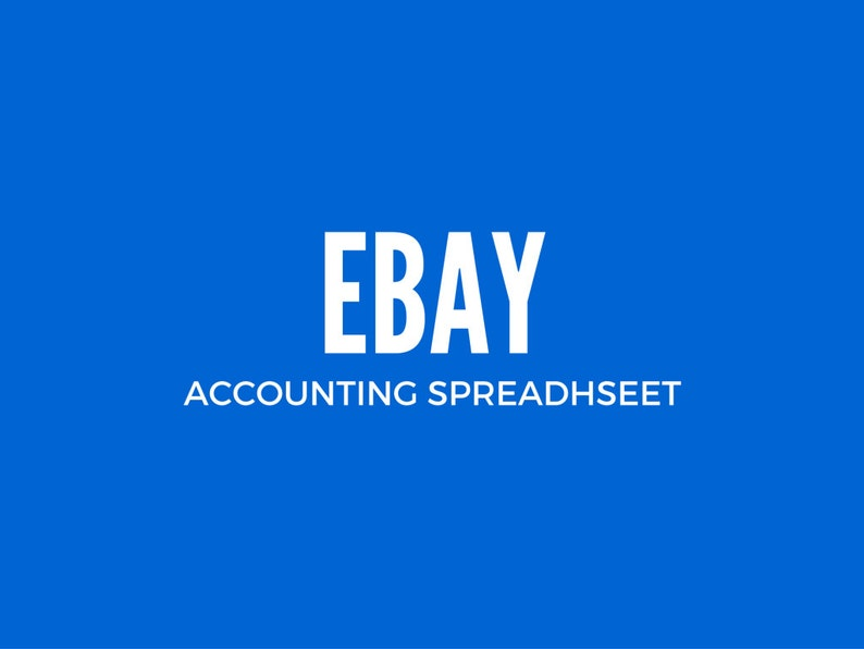 Ebay Sellers Bookkeeping Spreadsheet - UnLocked
