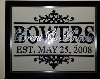 Personalized Family Name Frame 14''x11''