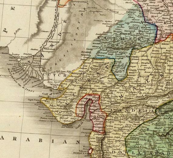 Alte Jugoslawien Karte.Alte Karte Von Indien Hindustan Leinwand Grosse Wand Dekor Vintage Urban City Industrial Style Tibet Ceylon Sri Lanka Burma Indus Pakistan