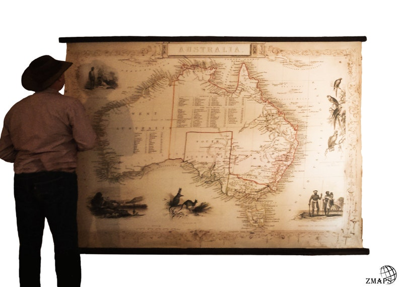 Giant Map Of Australia.Giant Map Australia Old Chart Of Australia Readable Details Huge Size Wall Art Aboriginal Wall Art Marvelous Wall Decoration