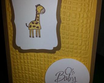 Oh Baby Giraffe Card