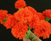 Cinco de Mayo, Fiesta, 12 Marigolds Crepe Paper Flowers, Dia de Los Muertos, Orange, Day of the Dead, Mexican Flowers, Wedding, Halloween
