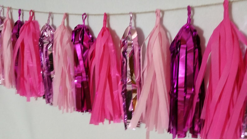 Baby Shower Princess Party Wedding Decorations Pink Tissue Paper Tassel Garland Minnie Mouse Party Decorations Diva Party It/'s a Girl