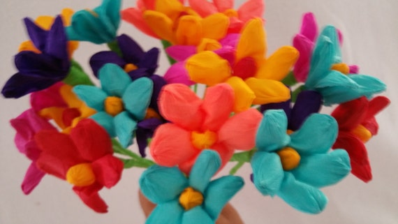 Day of the dead 10 crepe paper flowers dia de los muertos etsy image 0 mightylinksfo