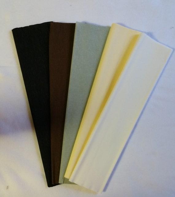 Brown crepe paper dennison crepe paper flower making paper etsy image 0 mightylinksfo