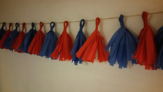Only 10.99 Mini 20 Tassel New England Patriots Tissue Paper Garland Patriots Football Decorations Red White Blue Balloon Tassels Banner