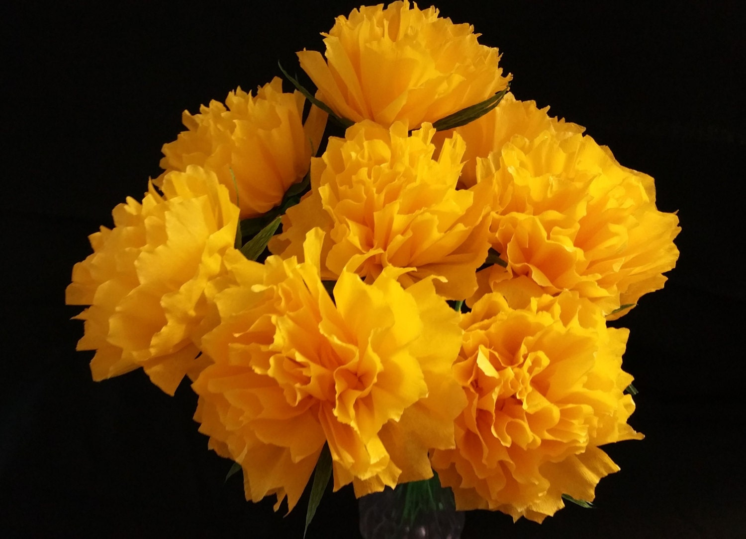 Only 150 Each 12 Yellow Crepe Paper Peony Flowers Peonies Etsy