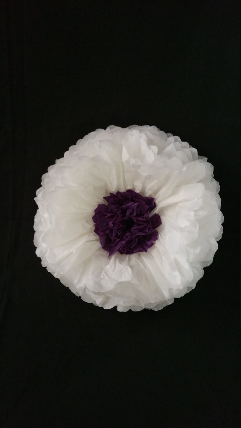 White Giant Tissue Paper Wall Flowers Table Decorations Paper Flowers Mexican Flowers Wedding Decoration Poms Birthday Party Baby