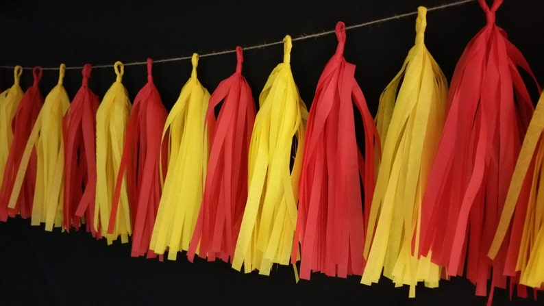 Super Bowl Chiefs Football Party Decorations Red White Yellow Gold 20 Tassel Kansas City Chiefs Tissue Paper Garland Only 16.99 Game