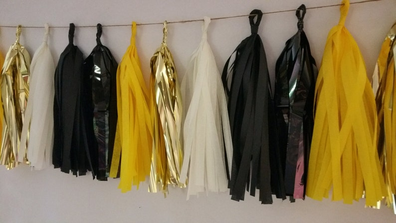081aea1a6e1259 20 Tassel Pittsburgh Steelers Tissue Tassel Garland Steelers | Etsy
