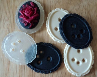 40mm x 30mm Resin settings mix six pieces in all U 6 pc lot l
