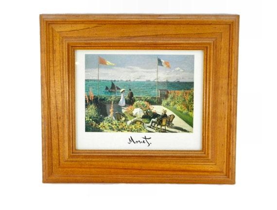 Vintage Framed Terrasse A Sainte Adresse By Claude Monet Etsy