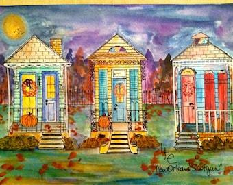 Triple New Orleans Shotgun Houses for Fall