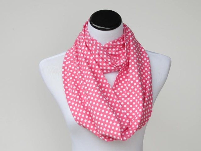 524deaf7ace2 Pink Scarf Infinity Scarf Pink White Polka Dot Scarf Toddler