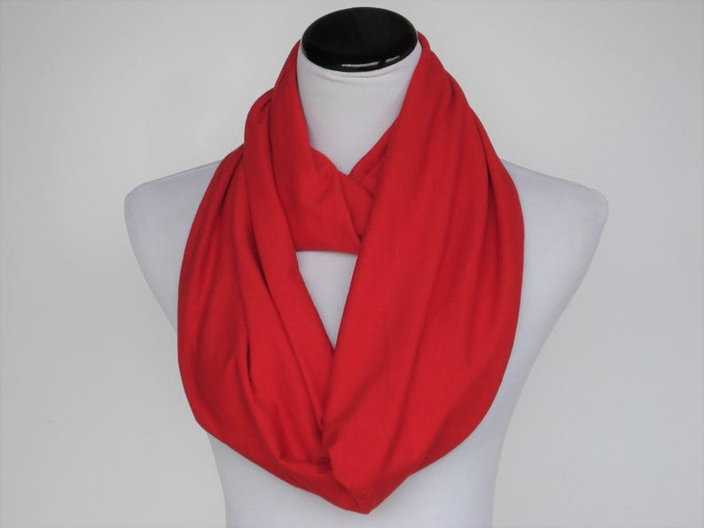 Red Scarf Valentine's Day Scarf Christmas Red Infinity image 0