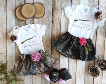 Girls My Dad Hunts Camo Father/'s Day Dress 2t 3t 4t 5 6 7 8 Toddler Kids Clothes