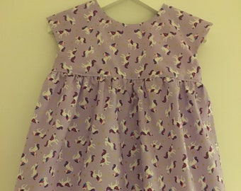 a6a346229 Lilac Unicorn Girls Dress