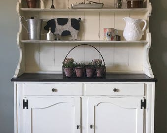 Farmhouse/Country/Cottage/Rustic Kitchen Hutch/kitchen Cabinet /storage/buffet/china Cabinet *FREE SHIPPING