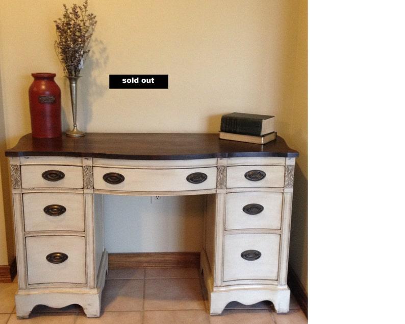 Vendu bureau chic de bureau meuble bois massif antique etsy
