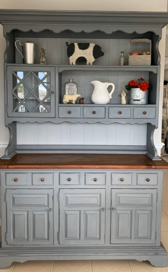 Farmhouse Country Cottage Rustic Kitchen Hutch Kitchen Etsy