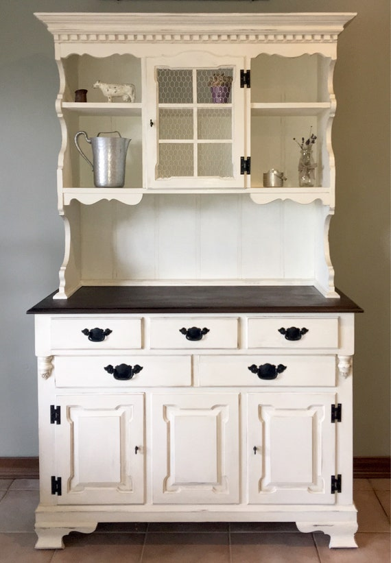 Hutch/Farmhouse/kitchen hutch/Cottage/rustic/kitchen  cabinet/storage/buffet/china cabinet *FREE Shipping