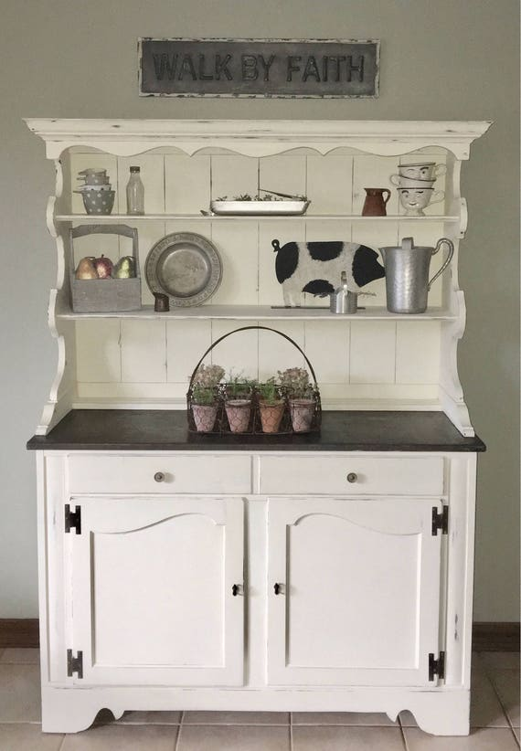 Hutch/Farmhouse/kitchen hutch/Cottage/rustic/kitchen  cabinet/storage/buffet/china cabinet