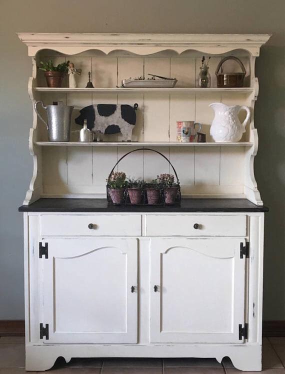 Hutch/Farmhouse/kitchen hutch/Cottage/rustic/kitchen  cabinet/storage/buffet/china cabinet