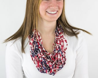 Old Glory Flag fabric infinity scarf