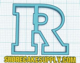 Rutgers 'R' Cookie Cutter Fondant Cutter | Graduation | Shore Cake Supply