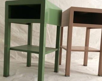 vintage industrial simmons metal side table. SiMMons MetaL NightstaNd Art Deco Mid CeNtury ModeRn INdustRial SteeL MachiNe Age SiDe TabLe PedestaL StaNd Vintage Industrial Simmons Metal Side Table T