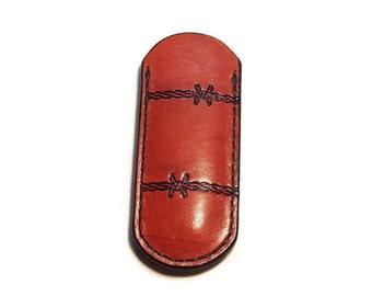 Medium Custom Leather Swiss Army Knife Flat Sheath Pouch