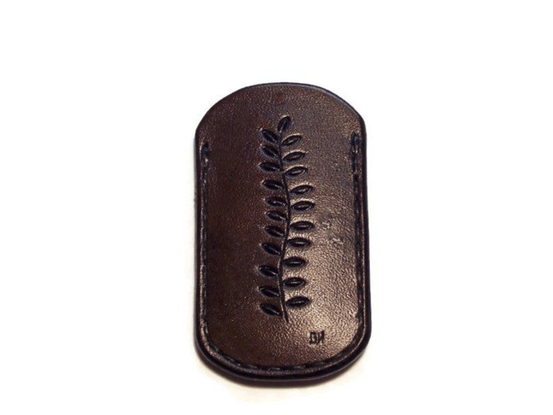Custom Leather Small Knife or Tool Flat sheath / pouch with image 0