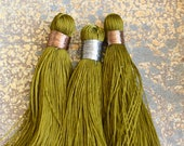 Long Olive Color Tassels, Large Tassels, Big Tassels, Olive Green, Mala Tassels, Craft Tassel, Tassel Earrings, Long Tassels, BS17-1129A