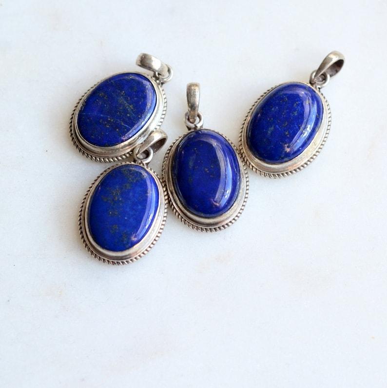 Lapis Pendant Natural Lapis Lazuli Pendant Healing Pendant,925 Sterling Silver,Handmade Pendant,Blue Pendant Silver Pendant,Gifts for Her