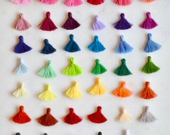 Mini Tassels, Tassels, Tiny Tassels, Tassels Trim Fringe, Tassels for Jewelry, Short Tassels Fluffy Tassels 4x18mm, Pack of 10, BS16-1214