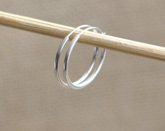 1 Pair - 16mm Sterling Silver Hoops, Round Hoop Earrings, Small Hoop Earrings, Everyday Hoop Earrings, PS18-0804