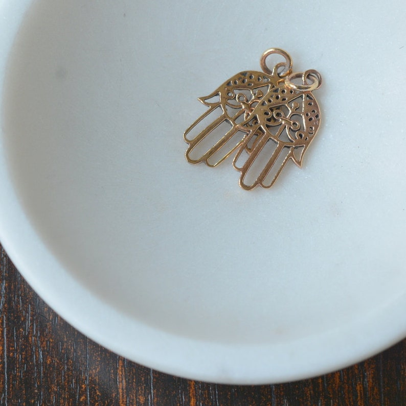 Hamsa Charms Protection Amulet 2-25mm Natural Bronze amsa Charms Hamsa Jewelry Hand of Hamsa Hand Of Fatima Hamsa Earrings AK15057