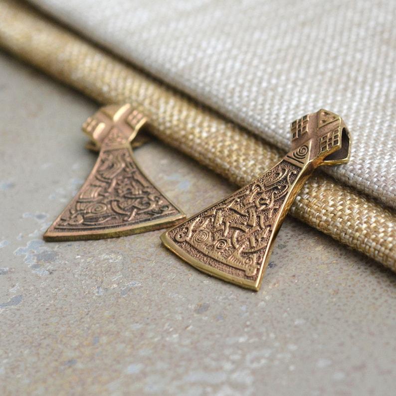 Men/'s Viking Jewelry Thor/'s Hammer 1-45mm Natural Bronze Hammer Of Thor Pendant AK19-0629 Norse Pendant Mjolnir Pendant