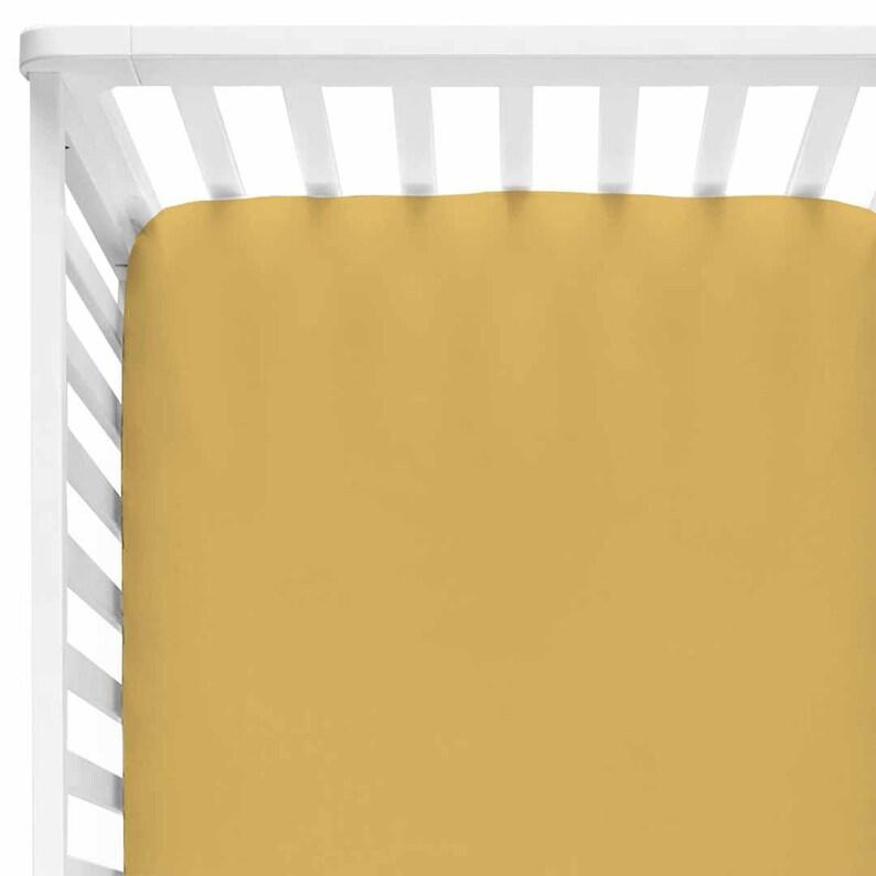 75937c9e4 Mustard Color Story Crib Sheet Mustard Yellow Neutral | Etsy