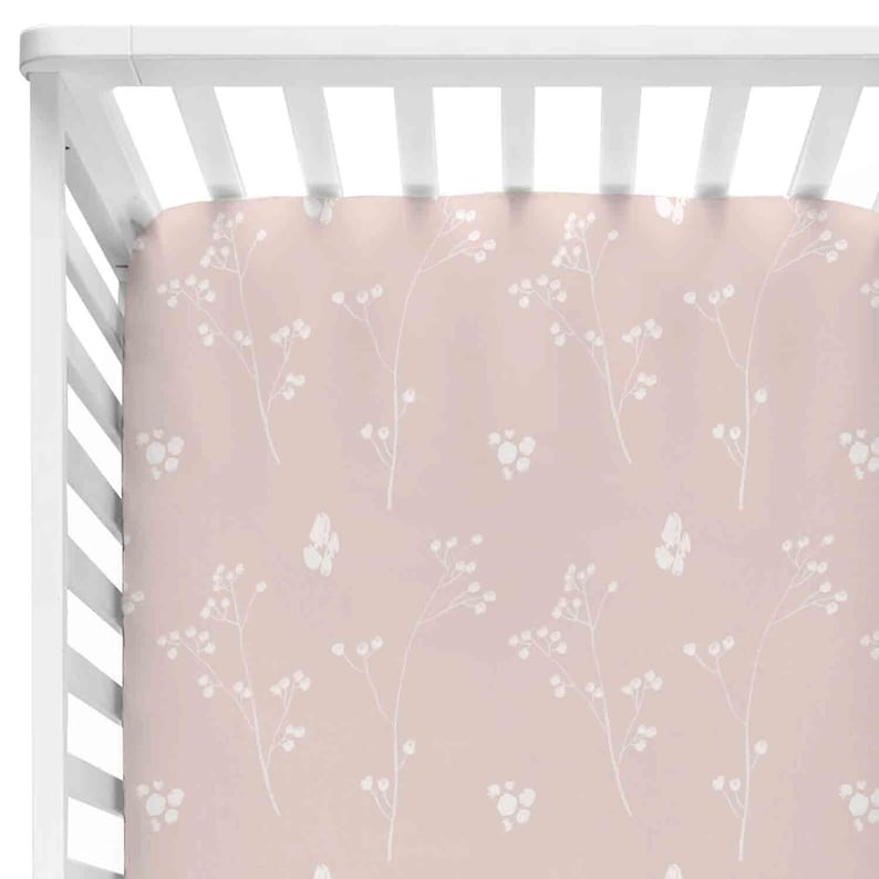e994394f0 Blush Printed Custom Crib Sheet Custom Crib Sheet Blush | Etsy
