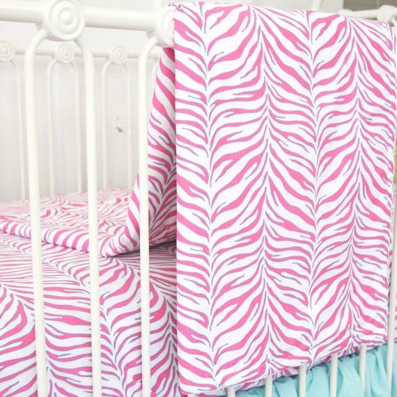 Couverture de bébé zèbre   Chambre de bébé rose & Turquoise ...