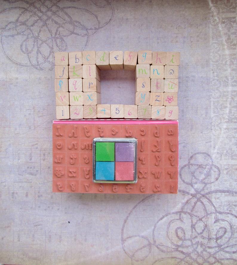 All Night Media Stamps Squares Alphabet Stamp Set by Anne Keenan Higgins 48643