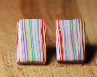 Beach Earrings - Hypoallergenic Earrings - Polymer Clay Earrings - Large Stud Earrings - No Nickel - Earrings For Sensitive Ears -