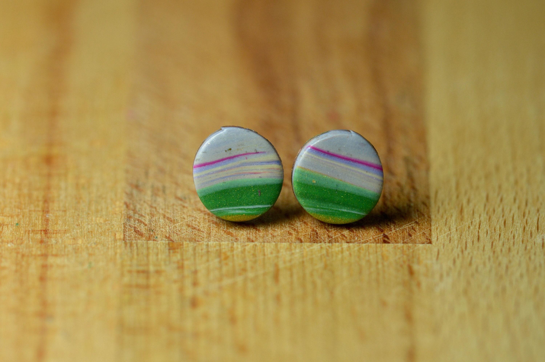 Wood planet earrings handmade earrings