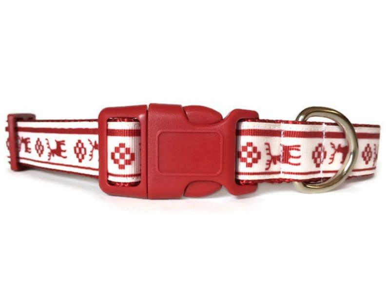 Reindeer Christmas Dog Collar  Scandinavian  Deer image 0