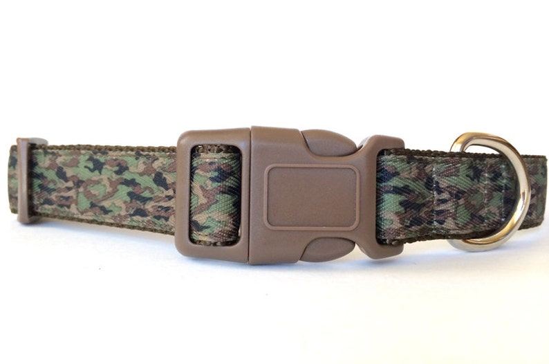 Camo Dog Collar  Adjustable Camouflage Military Hunting image 0