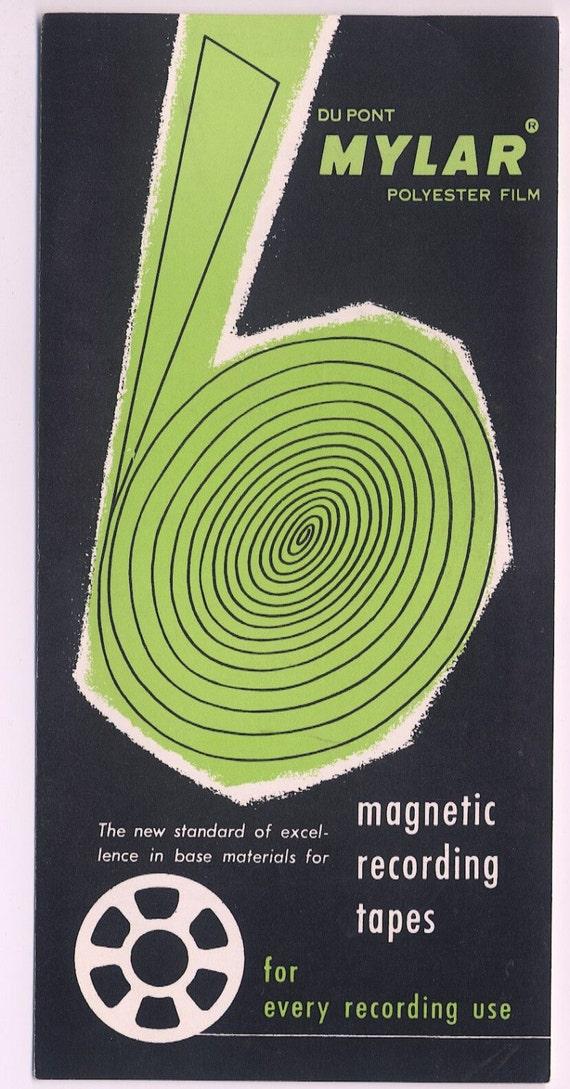 Items similar to Du Pont Mylar Polyester Film Brochure 1950s