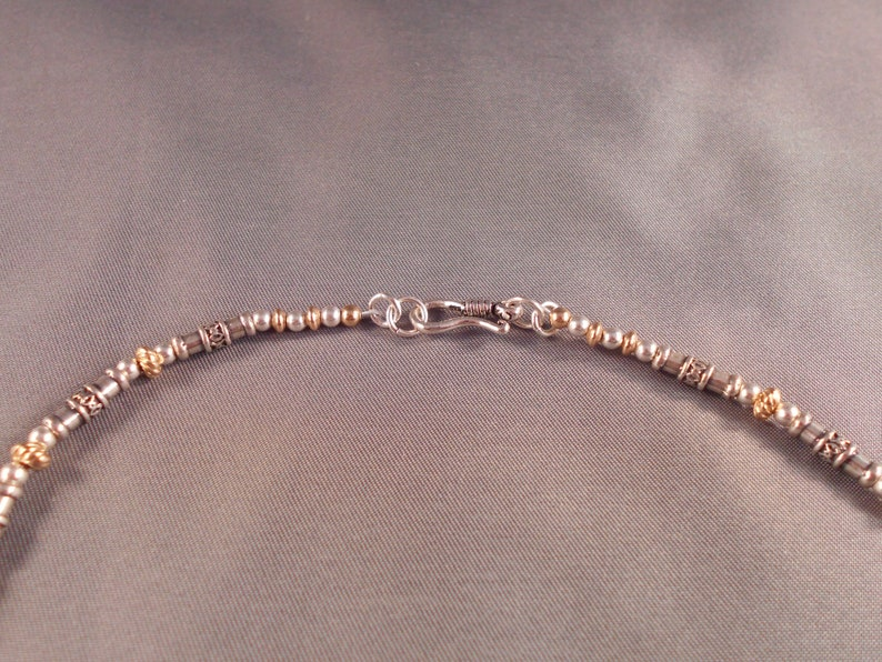 Mixed Media Sterling Silver and 14kt Gold Filled Necklace and Earring Set