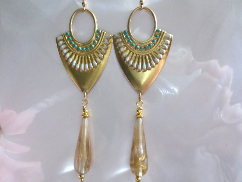 d99161877c63 Pendientes egipcios estilo vintage Art Deco declaración